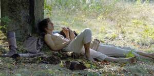 Goethe (Alexander Fehling) entspannt (Bild: Lausitzer Rundschau)